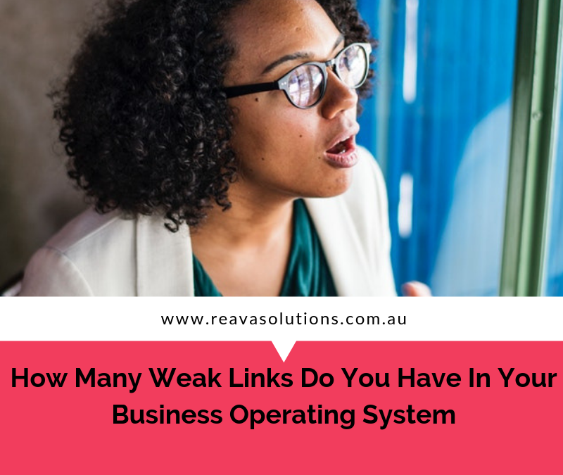 How many weak links do you have in your business operating system