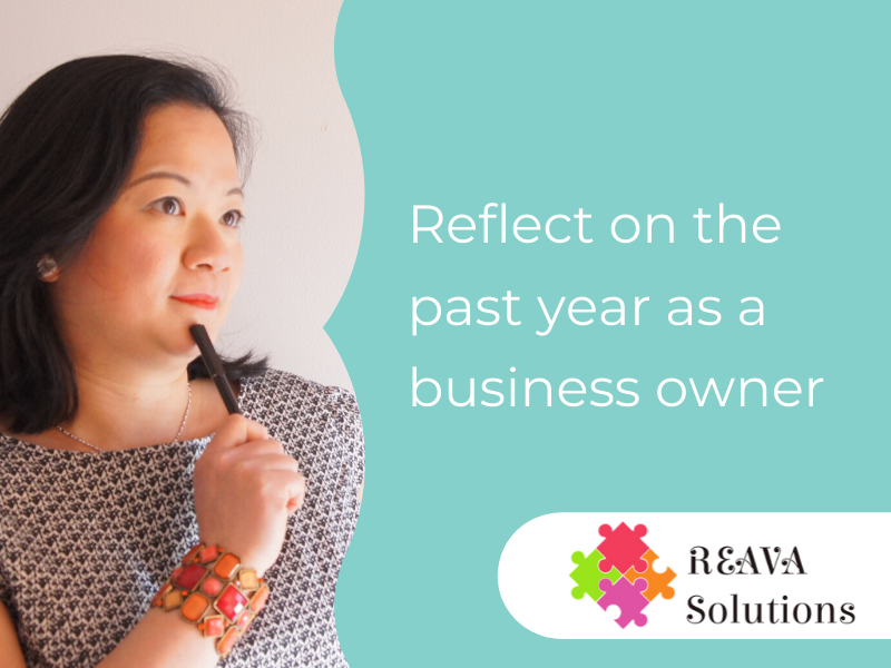 Reflect on the past year as a business owner