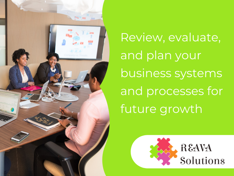 Review, evaluate, and plan your business systems and processes for future growth