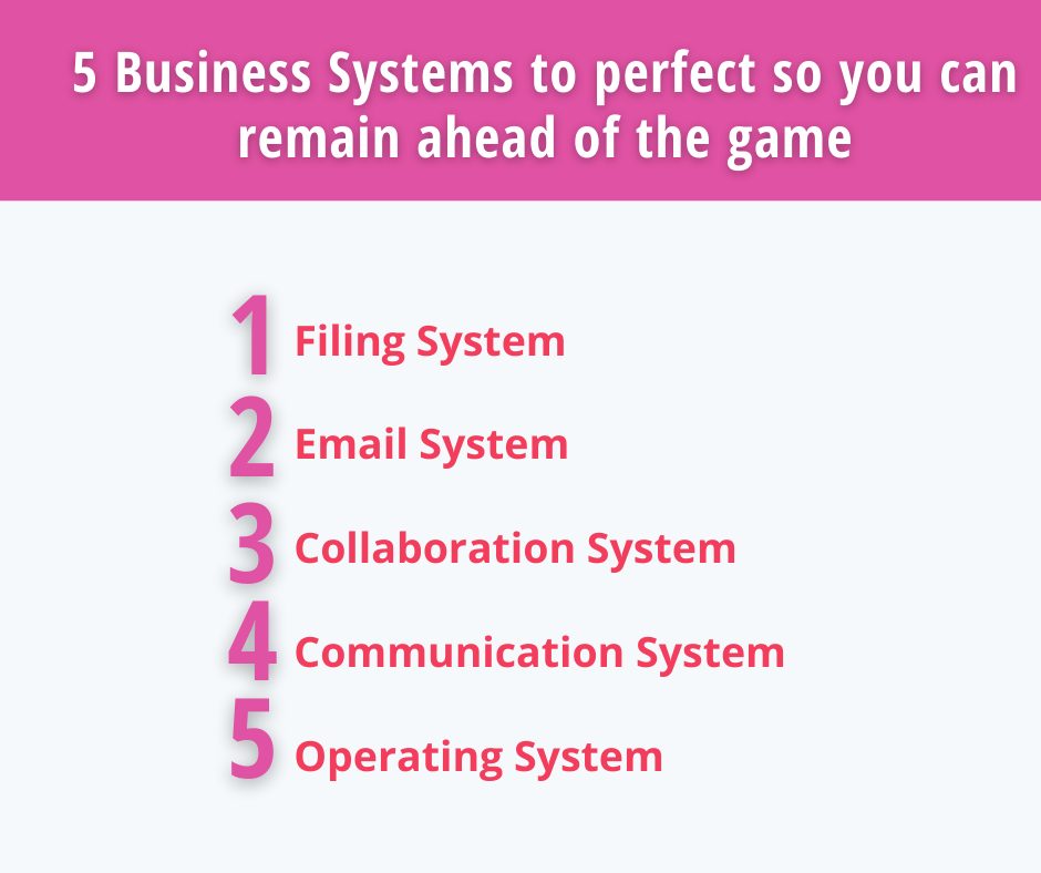 5 Business Systems to perfect so you can remain ahead of the game